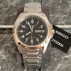 Citizen Men's Eco-Drive Stainless Steel Watch NWT